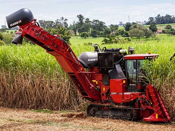This Case IH Austoft 8800 multi row cane harvester has been keeping up with the demands of the intensive Queensland sugar harvest season.