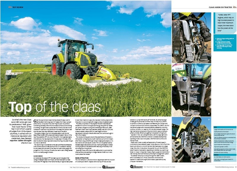 Claas Axion 830 review
