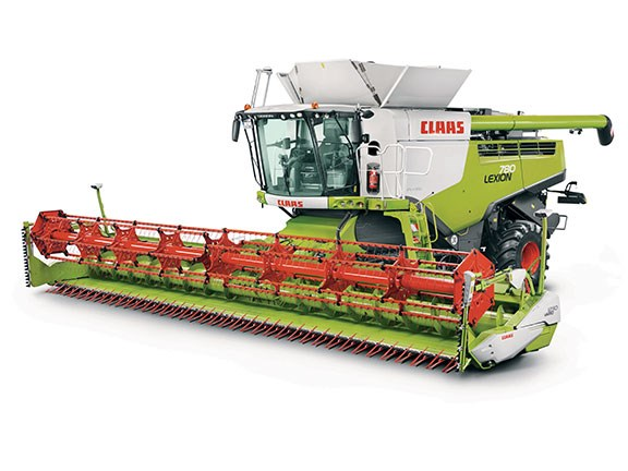 The Claas Lexion 780  combine harvester
