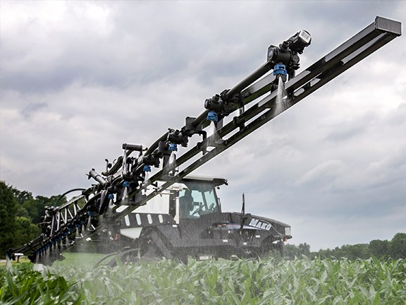 The Croplands Mako 450 self-propelled sprayer in action.
