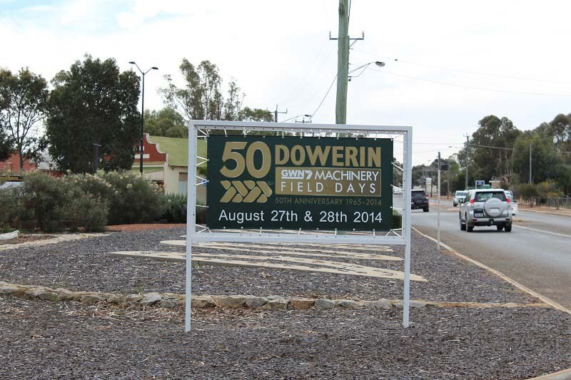 Dowerin 2014 sign