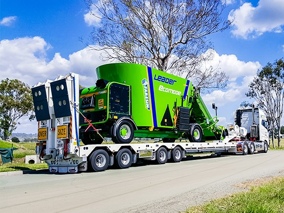 The Drake Trailers Quad AG widener trailer can carry some impressive loads.