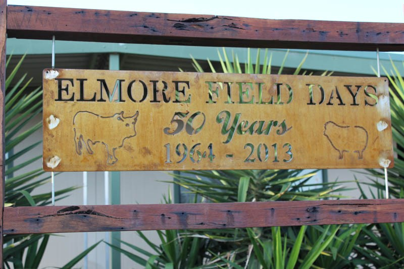 Elmore Field Days 2015 Elmore 50 years sign