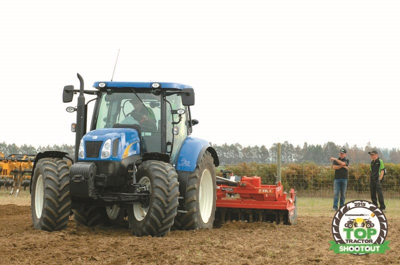 New Holland T6070 Elite-power harrow