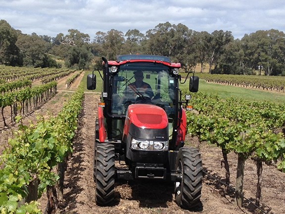 The Case IH Farmall 95C is right at home on the Barossa Valley vineyard.