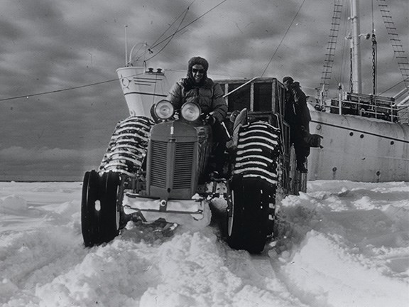One of the Ferguson TE20 tractors used in Antarctica by Sir Edmund Hillary and his team.
