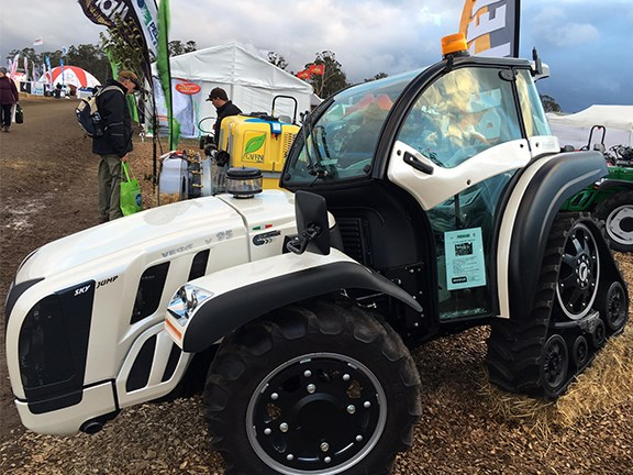 The futuristic looking tractor attracted loads of attention from an inquisitive crowd.