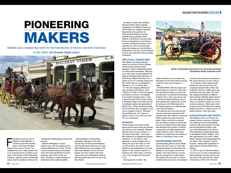 GQ Ballarat tractor feature