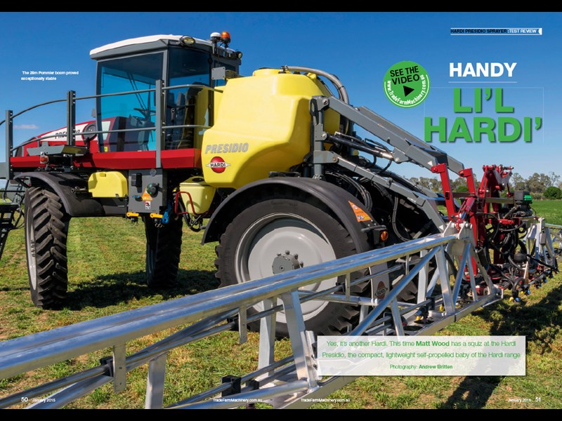 Hardi Presidio sprayer review