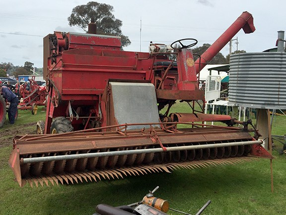A popup machinery museum provided visitors to Henty with a glimpse of the equipment used by our forefathers, like this 1957 Sunshine Massey Harris 585 self-propelled header