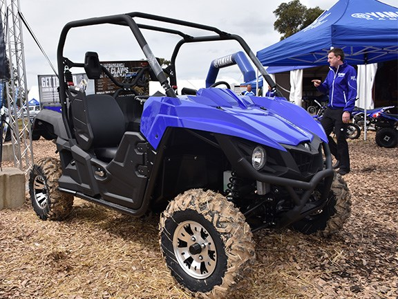 The 708cc Yamaha Wolverine ATV features a fully automatic transmission, improved rider comfort and a speed-sensitive power steering system