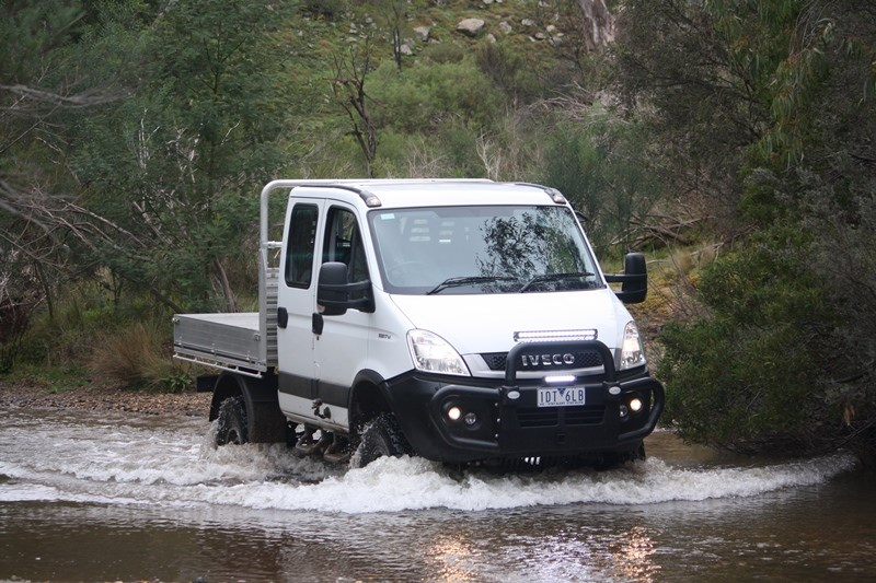 Iveco Daily 4x4 across water