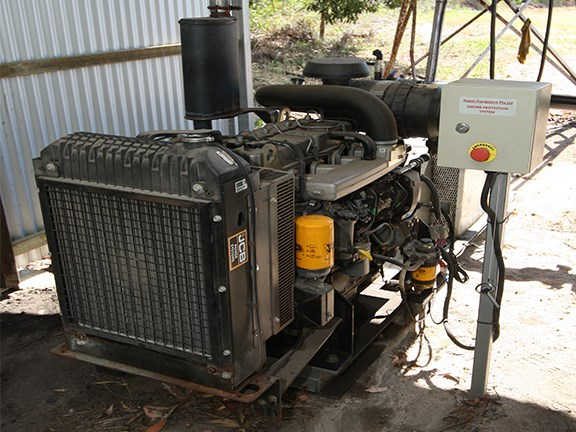 The JCB DieselMax powered pump is helping save fuel on a Bundaberg produce farm.