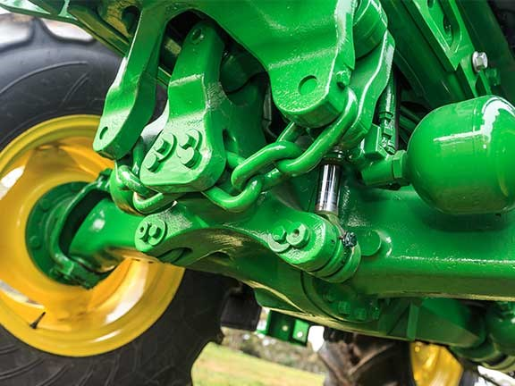 The John  Deere 6105M was the only tractor with front axle suspension.