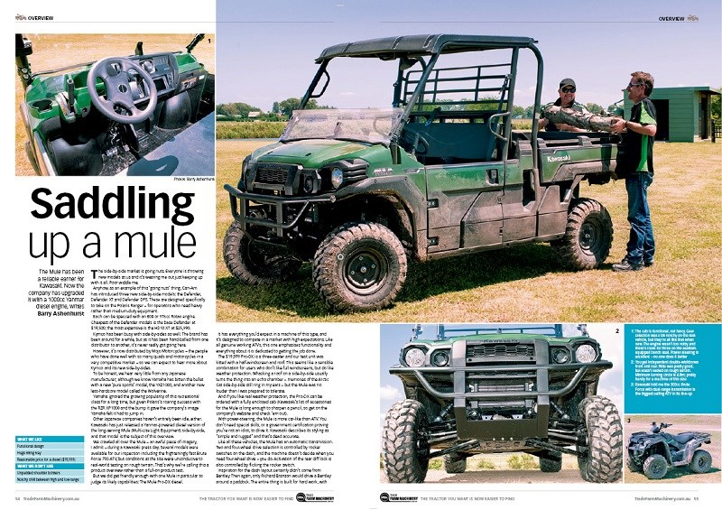 Kawasaki Mule review