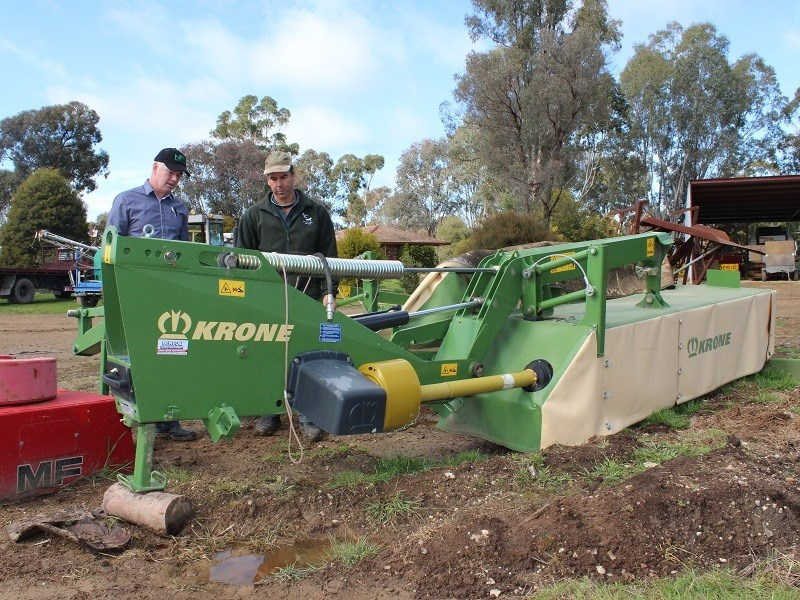 Krone EC R 320 mower with Dan Parker