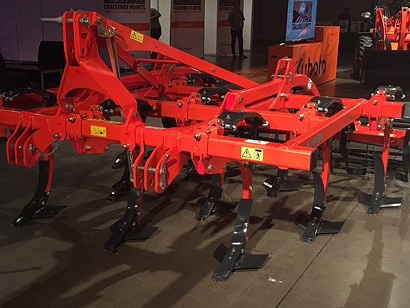 The Kubota CU3300C is a three bar tine cultivator for smaller tractors upwards of 80hp. It features a compact module for attaching rear accessories, hollow tine technology for sideways movement around obstacles, and knock on shares for simple and fast replacement.