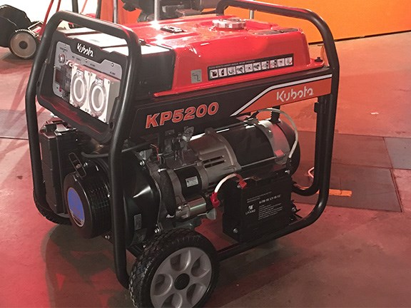 The Kubota KP5200 generator is a semi-portable unit powered by a Yamaha petrol engine.