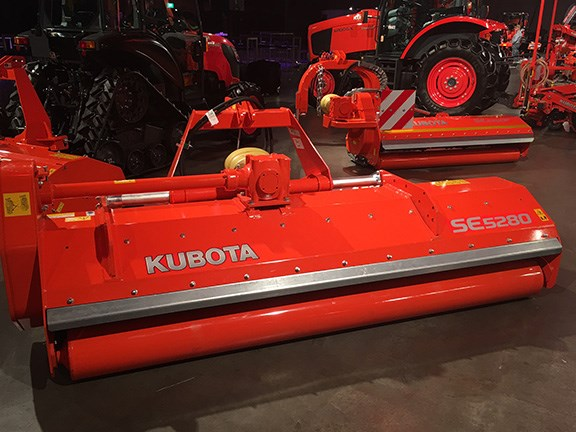 The Kubota SE5280 is a multi-purpose grass, pasture, and stubble flail chopper.  It features hydraulic offset and either hammer or universal Y-shaped blades.