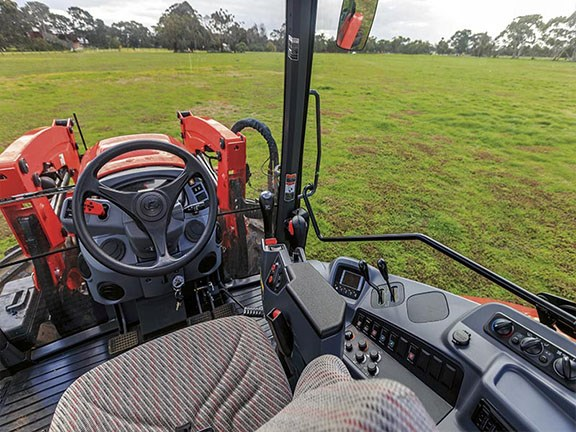 The M100GX is the only tractor to have incorporated an armrest control console.
