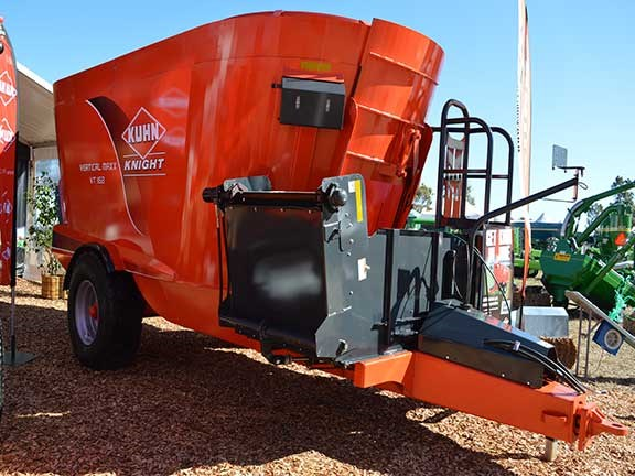 The Kuhn Knight Veritcal Maxx VT 168 twin-auger mixer wagon can handle loads exceeding 10,000kg and features augers that provide quicker mixing than earlier models.