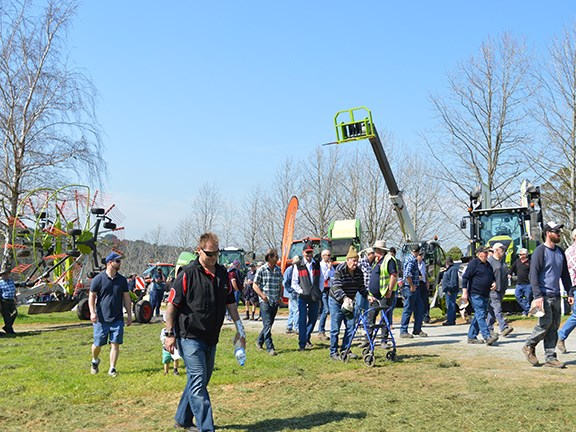 About 450 people attended the Lardner Park Hay and Silage Demonstration Day