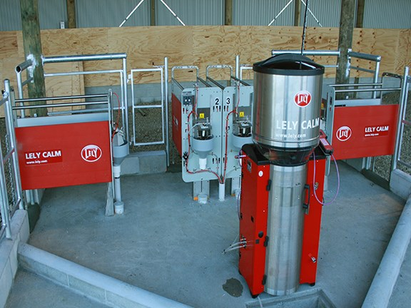 Milk distributed through the system is kept at a precise temperature.