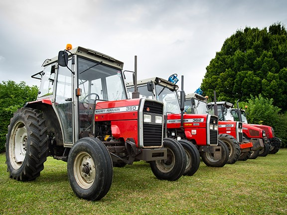 The front tyres have become a lot bulkier on modern-day tractors.