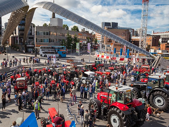 Massey Ferguson tractor enthusiasts gathered to celebrate the occasion in Coventry.