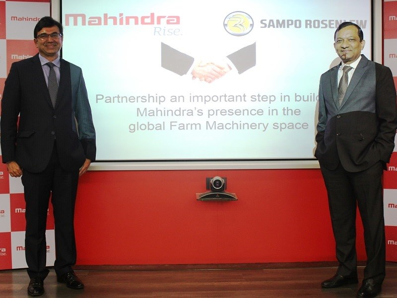 Mahindra Sampo Rosenlew partnership press con