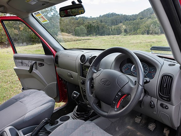 Styling inside and out isn't a strong point for the Mahindra. But it's functional enough.