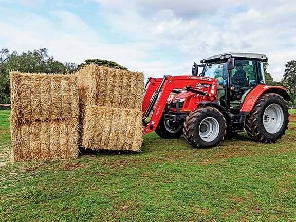 The Massey Ferguson 5609 tractor made quick work of the hay task.
