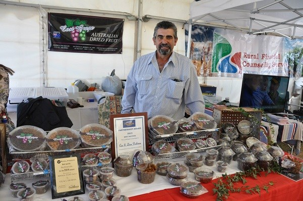 Mildura field days 2015 dried fruit exhibitor