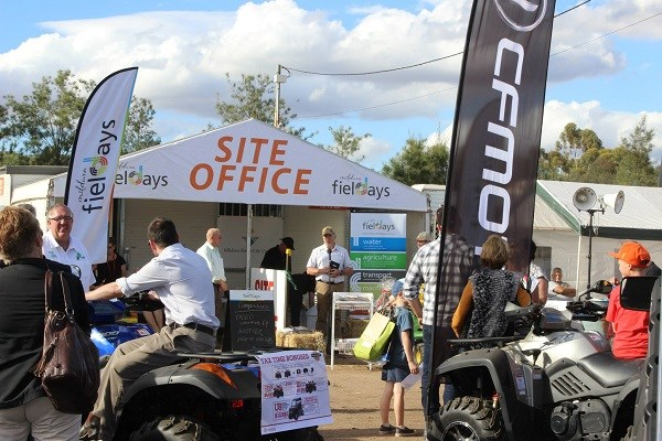 Mildura field days 2015 site office