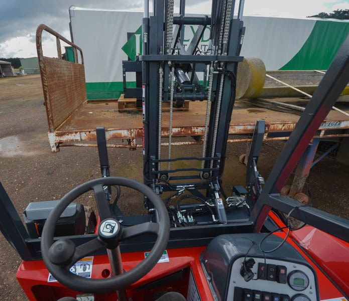 Moffett M5 forklift clear sight lines