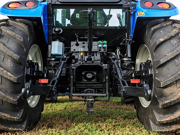 Our New Holland TD5.90 test tractor had a two speed, 540540E, direct drive PTO.