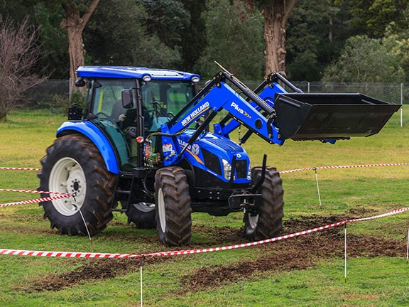 The New Holland TD5.90 tractor was among the lighter tractors entered into the Top Tractor Shootout.