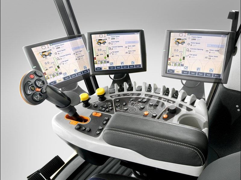 New Holland combine touch screen