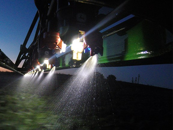 John Deere's new ExactApply intelligent nozzle control system will come on all 2018 4-Series sprayers.