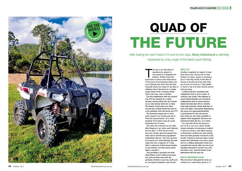 Polaris Ace 570 quad review
