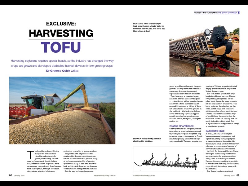 Soybean harvest feature GQ