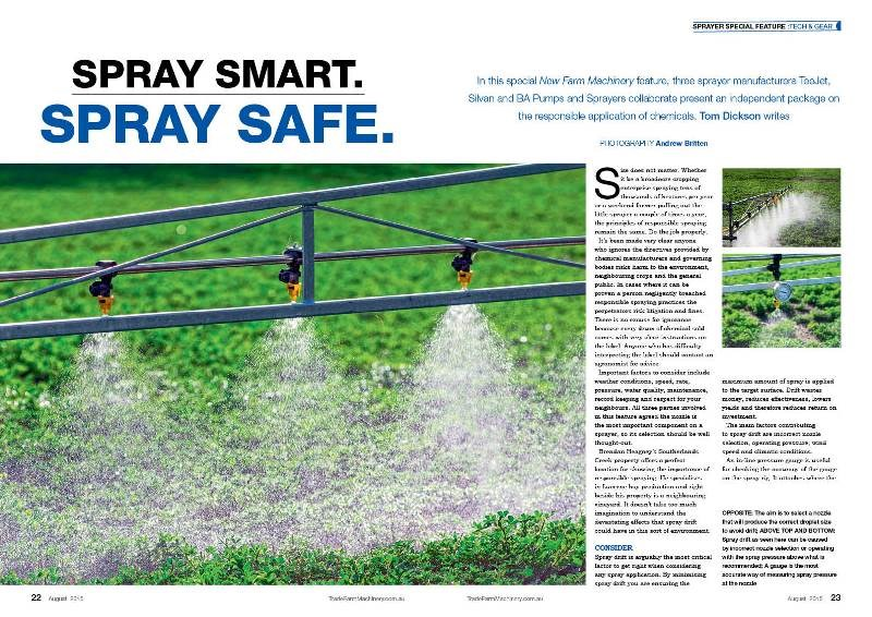 Spraying feature in NFM 24