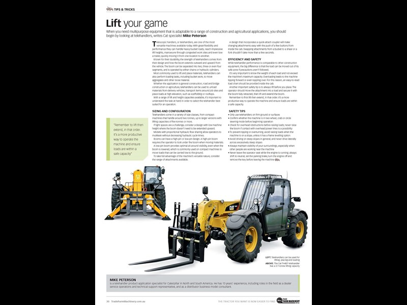 Telehandler tips and tricks