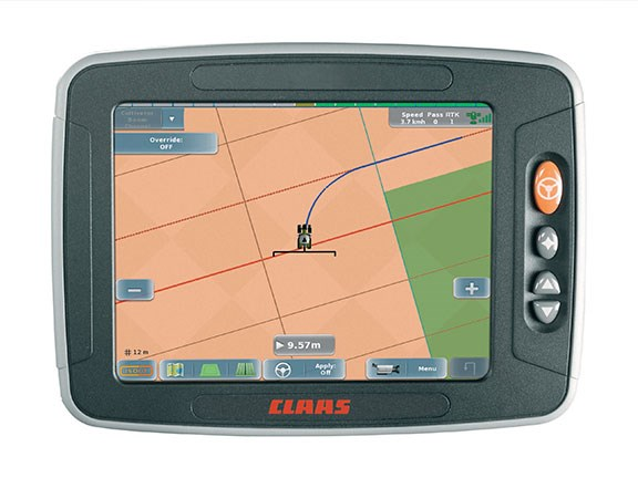 The simple Claas Turn In system interface makes everything easier to manage
