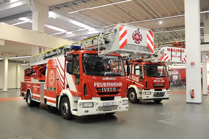 Two Magirus fire engines in the Customer