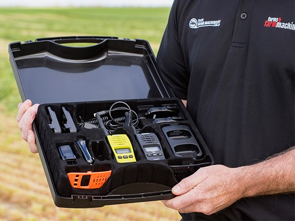 Uniden's new UH820S UHF radio in the two-unit Tradies Pack.