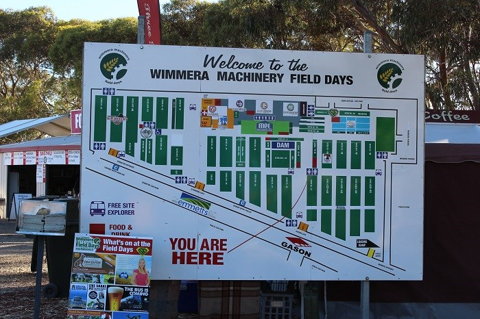 Wimmera field days signage