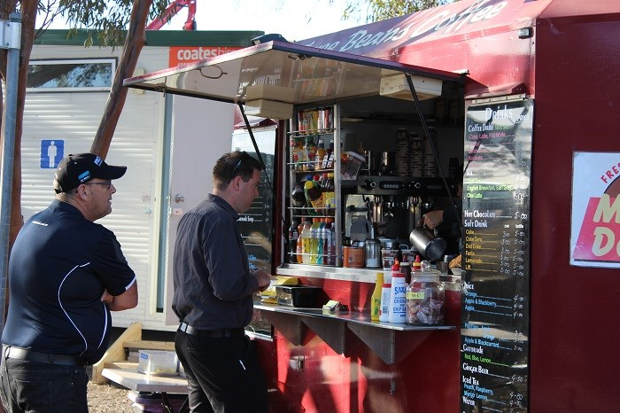 Wimmera field days coffee cart