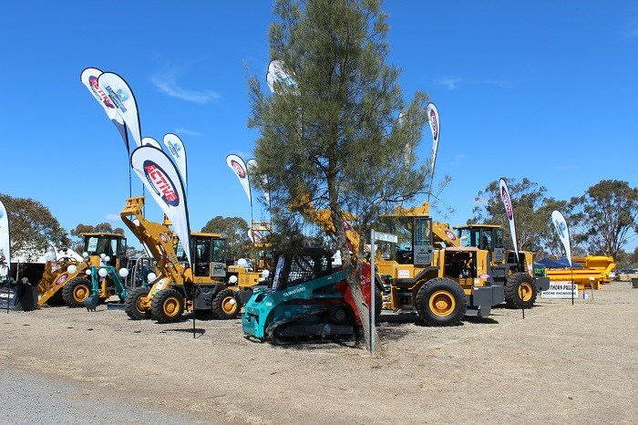 Wimmera field days mahcinery exhibit