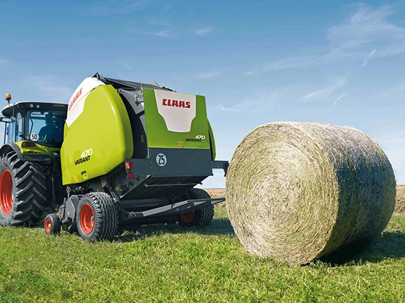 Th new Claas Variant 400 series round balers will be available in Australia from 2017